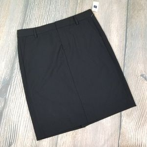 New GAP black stretch pencil straight career skirt